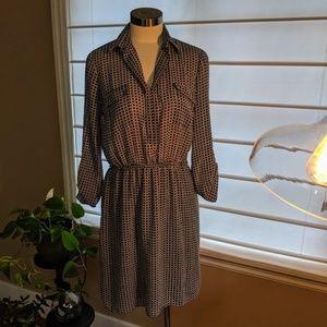 Max Studio Black Print Dress - Size S